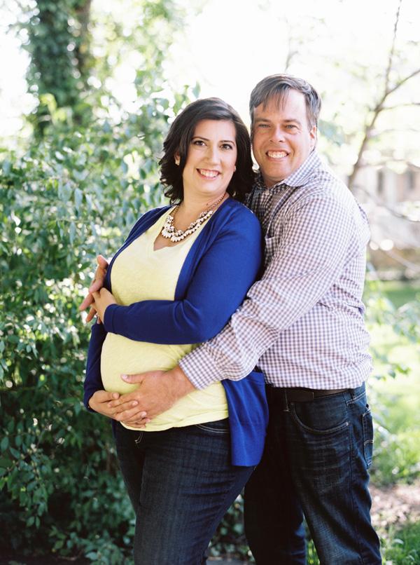 beautiful pregnant woman and husband portrait